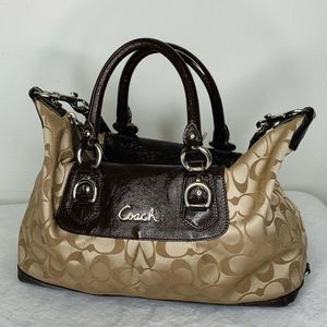 Coach ASHLEY Signature Satin Satchel Bag w/Strap
